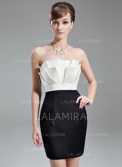 Sheath/Column Luxurious Satin General Plus Cocktail Dresses (016016283)