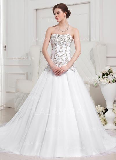 Moda General Grande Corazón Corte de baile Tul Vestidos de novia (002196876)