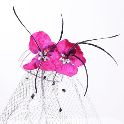 "Hairpins Wedding/Special Occasion/Outdoor/Party Artificial Silk/Tulle 9.84""(Approx.25cm) 3.94""(Approx.10cm) Headpieces (042157383)"