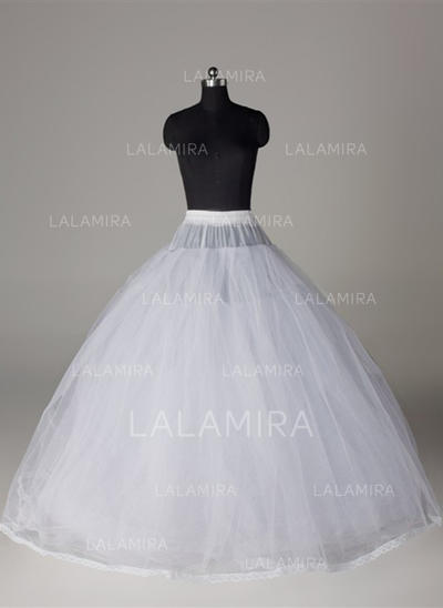 Bustle Floor-length Tulle Netting/Satin/Lace Full Gown Slip 8 Tiers Petticoats (037190837)