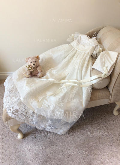 Dentelle Col rond À ruban(s) Robes de baptême bébé fille avec 1/2 manches (2001217973)