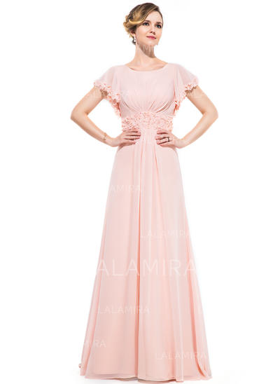 Magnificent Chiffon A-Line/Princess Zipper Up Evening Dresses (017201523)
