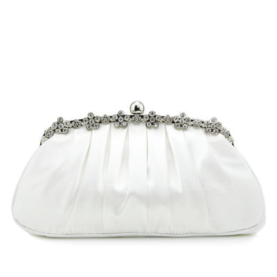 Clutches Wedding/Ceremony & Party Silk Clip Closure Fashional Clutches & Evening Bags (012184003)