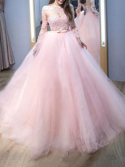 Scoop Neck Ball-Gown - Tulle 2020 New Prom Dresses