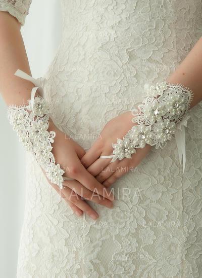 Lace Ladies' Gloves Wrist Length Bridal Gloves Fingerless Gloves (014192205)