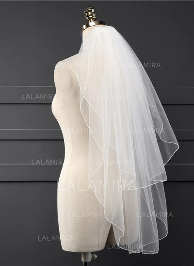 Waltz Bridal Veils Tulle Two-tier Classic With Scalloped Edge Wedding Veils (006152164)