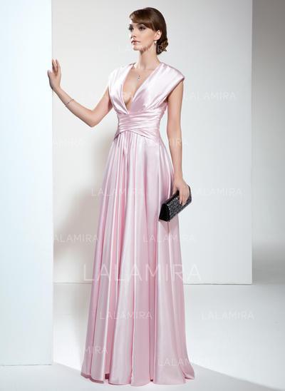 Gorgeous Charmeuse V-neck A-Line/Princess Mother of the Bride Dresses (008006190)