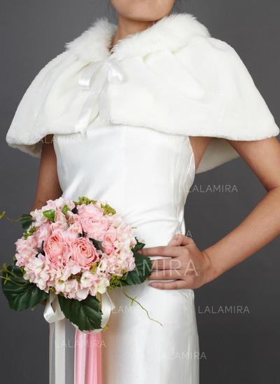 Wrap Wedding Faux Fur Sleeveless Other Colors Wraps (013149322)