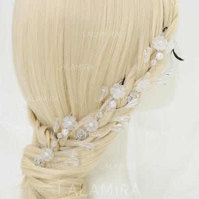 "Hairpins Wedding/Special Occasion/Party Alloy/Imitation Pearls/Beads 3.94""(Approx.10cm) 2.56""(Approx.6.5cm) Headpieces (042155279)"
