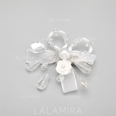 """Combs & Barrettes Wedding/Special Occasion Alloy/Imitation Pearls/Ceramic 2.76""""(Approx.7cm) 2.76""""(Approx.7cm) Headpieces (042154840)"""