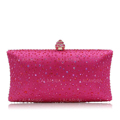 Clutches Wedding/Ceremony & Party Crystal/ Rhinestone Snap Closure Elegant Clutches & Evening Bags (012188117)