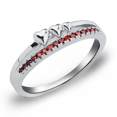 Rings Copper/Zircon/Platinum Plated Ladies' Romantic Wedding & Party Jewelry (011165392)