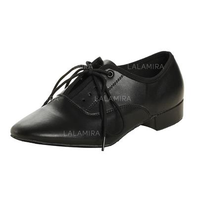 426ad05239f7 Men's Ballroom Heels Real Leather With Lace-up Dance Shoes (053178945)
