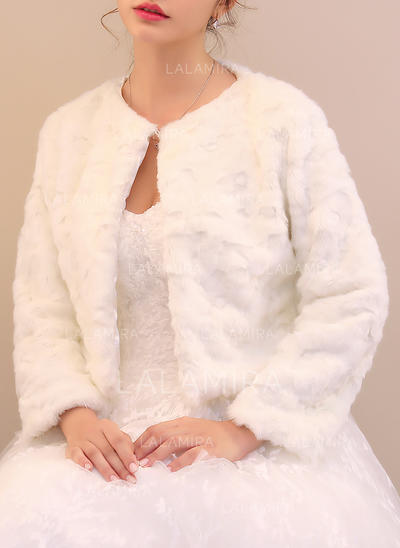 Wrap Special Occasion Faux Fur Ivory Wraps (013150402)