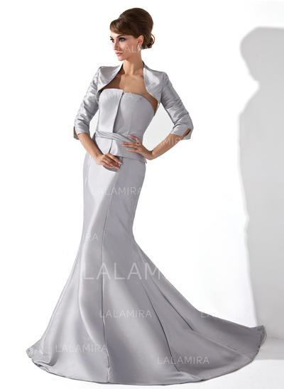 Newest Taffeta Strapless Trumpet/Mermaid Mother of the Bride Dresses (008006234)