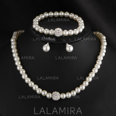 Jewelry Sets Imitation Pearls Lobster Clasp Pierced Ladies' Wedding & Party Jewelry (011168058)