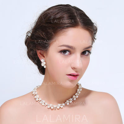 Jewelry Sets Alloy Rhinestone Lobster Clasp Earclip Wedding & Party Jewelry (011167977)