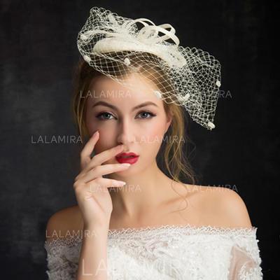 Lace/Linen With Tulle Fascinators Elegant Ladies' Hats (196194228)