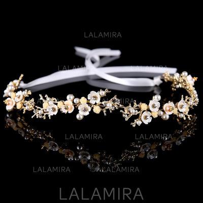Aleación/La perla de faux Diademas (Se venden en una sola pieza) (042136764)
