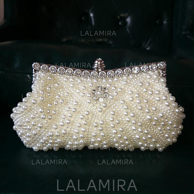 "Clutches/Satchel Ceremony & Party Imitation Pearl Gorgeous 9.06""(Approx.23cm) Clutches & Evening Bags (012187284)"