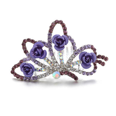 """Tiaras/Flower Girl's Headwear Wedding/Special Occasion/Party/Carnival Rhinestone/Alloy 2.95""""(Approx.7.5cm) 2.36""""(Approx.6cm) Headpieces (042156086)"""