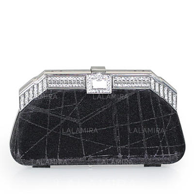 Clutches/Wristlets Wedding/Ceremony & Party Crystal/ Rhinestone/Sequin Snap Closure Charming Clutches & Evening Bags (012184712)