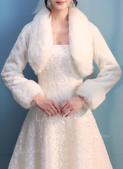 Wrap Wedding Faux Fur Ivory Wraps (013150254)