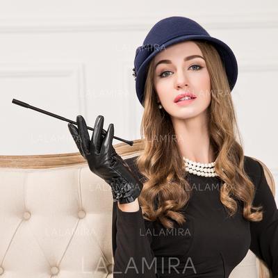 Wool With Rhinestone Bowler Cloche Hat Vintage Ladies  Hats  194357 ... 92eec9ee482