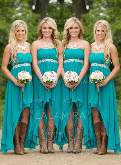 Ruffle Sweetheart With Chiffon Bridesmaid Dresses (007211569)