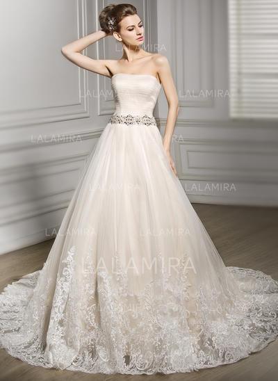 Sin tirantes Sin mangas Corazón con Tul Vestidos de novia (002210584)