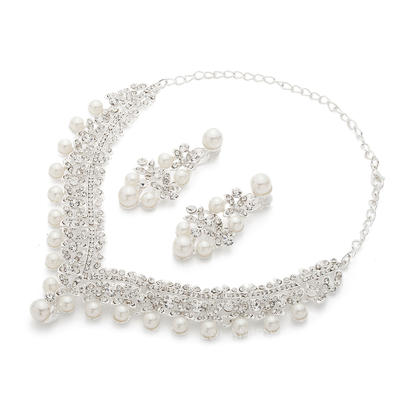 Jewelry Sets Alloy/Pearl Lobster Clasp Earclip Ladies' Wedding & Party Jewelry (011165682)