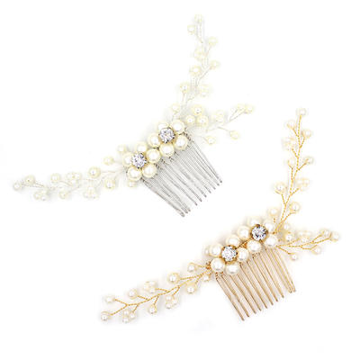 """Combs & Barrettes Wedding/Special Occasion/Party/Art photography Alloy 5.12""""(Approx.13cm) 3.15""""(Approx.8cm) Headpieces (042159334)"""