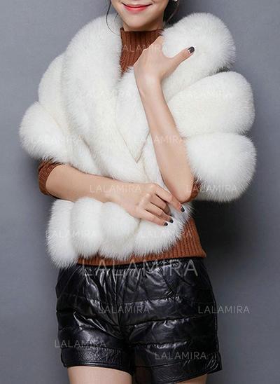 Wrap Wedding Feather/Fur Sleeveless Black White Red Pearl Pink Dusk Wraps (013150378)