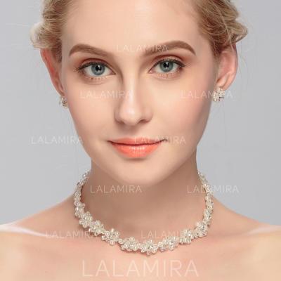 Sistemas de la joyería Diamantes de imitación/Crystal Corchete de la langosta Perforado Señoras' Joyas de boda & fiesta (011080537)