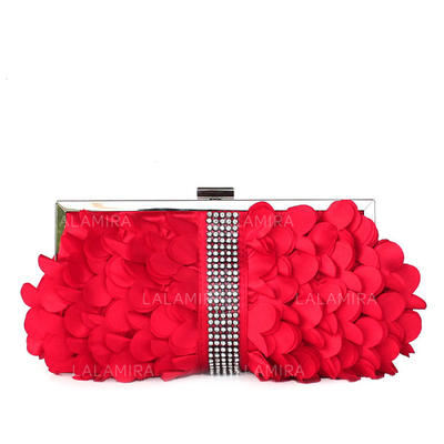 Clutches Wedding/Ceremony & Party Silk Clip Closure Lovely Clutches & Evening Bags (012185077)