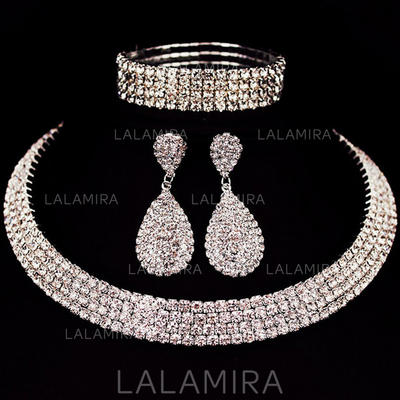 Jewelry Sets Alloy/Rhinestones Lobster Clasp Pierced Ladies' Wedding & Party Jewelry (011168052)