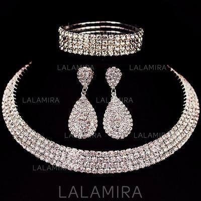 Sistemas de la joyería Aleación/Diamantes de imitación Corchete de la langosta Perforado Señoras' Joyas de boda & fiesta (011129635)