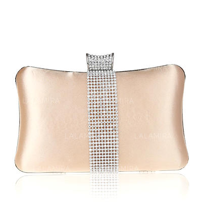 Clutches Wedding/Ceremony & Party Silk Snap Closure Elegant Clutches & Evening Bags (012187515)