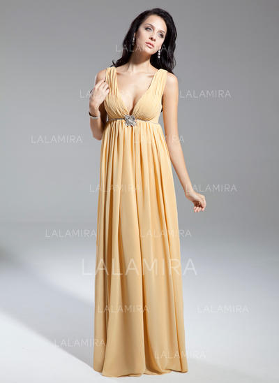 Beautiful V-neck Empire Chiffon Mother of the Bride Dresses (008211369)