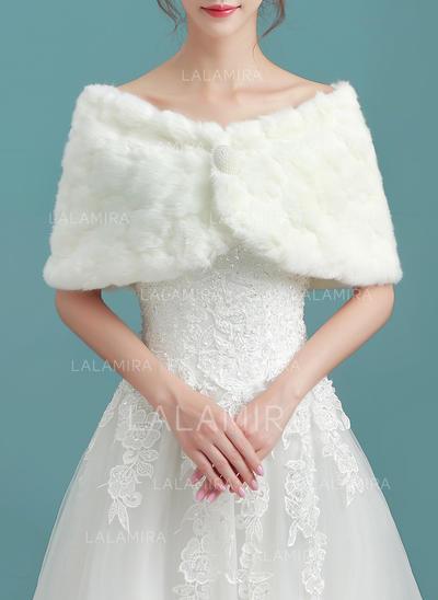Wrap Wedding Faux Fur Ivory Wraps (013150319)