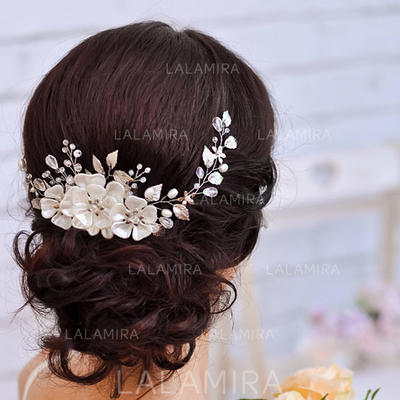 "Headbands Wedding/Special Occasion Rhinestone/Alloy/Imitation Pearls 14.57 ""(Approx.37cm) 2.76""(Approx.7cm) Headpieces (042159349)"