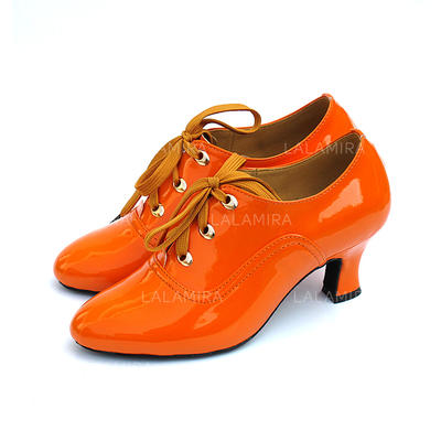 De mujer Swing Tacones Salón Cuero Zapatos de danza (053082952)