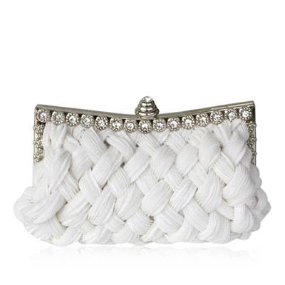 Clutches Wedding/Ceremony & Party Satin Clip Closure Gorgeous Clutches & Evening Bags (012183992)