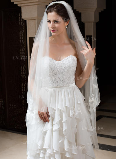 Waltz Bridal Veils Tulle Two-tier Classic With Cut Edge Wedding Veils (006151450)