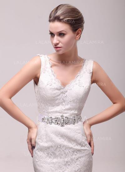 Women Mercerizing With Rhinestones Sash Beautiful Sashes & Belts (015191278)