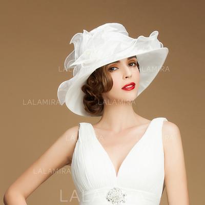 Organza Bowler Cloche Hat Beautiful Ladies  Hats  193634 - lalamira 529384fb4fbf