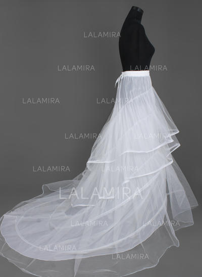 Petticoats Cathedral Train Nylon/Tulle Netting A-Line Slip/Full Gown Slip 3 Tiers Petticoats (037190670)