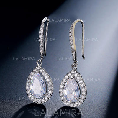 Pendientes Circón Clip de oreja Señoras' Luminoso Joyas de boda & fiesta (011117346)