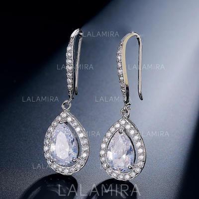 Earrings Zircon Earclip Ladies' Shining Wedding & Party Jewelry (011167734)