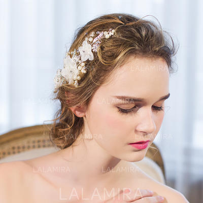 "Combs & Barrettes/Flowers & Feathers Wedding/Special Occasion/Party/Art photography Rhinestone/Imitation Pearls 8.66""(Approx.22cm) 2.36""(Approx.6cm) Headpieces (042156659)"